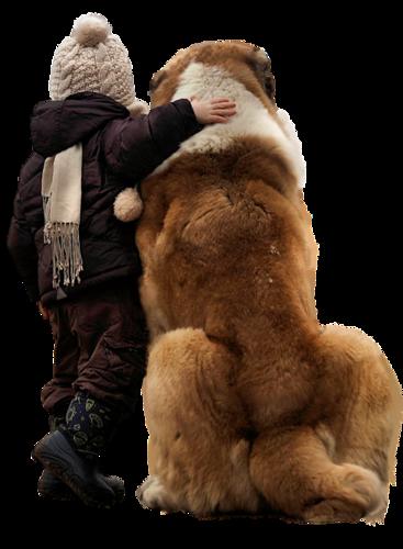 enfant avec animaux