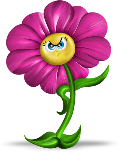 image fleur rigolote