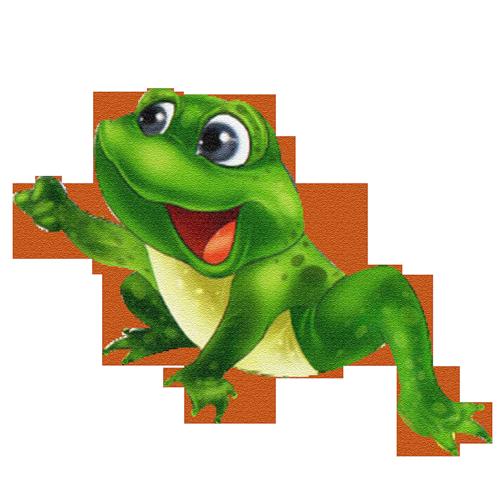 Grenouille rigolote - Dessin de grenouille verte ...