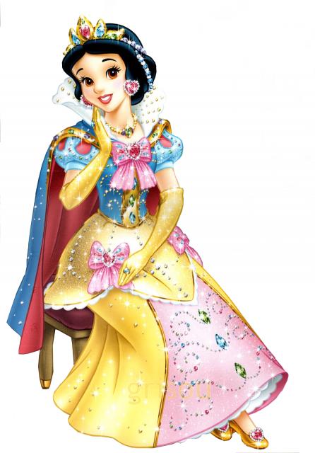 Tubes dessins animes - La princesse blanche neige ...